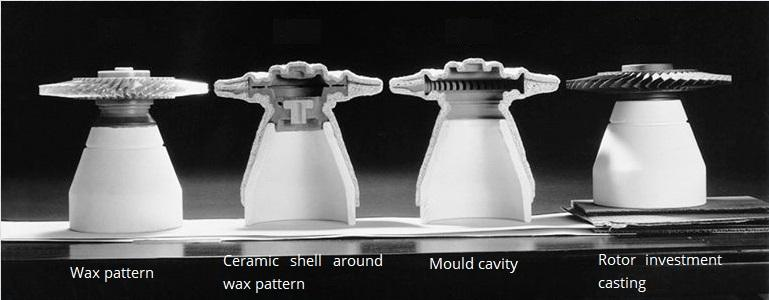 Gas turbine rotor investment casting (Source: Howmet Corporation)