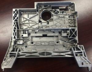 Plaster mould aluminium casting